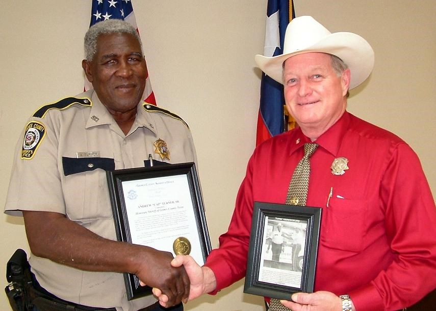 "Sheriff Sowell and Deputy Andrew ""Cap"" Turner"